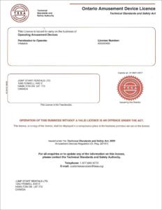 TSSA Licence